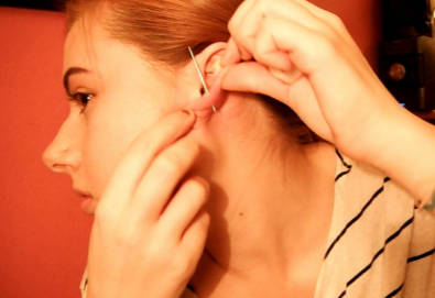How to pierce your ear at home